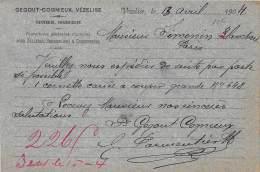 54 - MEURTHE ET MOSELLE / Vezelise - 546995 - Carte De Correspondance - Tannerie Gegout Cognieux - Vezelise