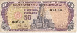 BILLETE DE REP. DOMINICANA DE 50 PESOS ORO DEL AÑO 1997 SERIE B (BANKNOTE) - Dominicana