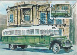 Malta Maximum Card 28 Mi 1677 Buses - The End Of An Era - Ford V8, Sliema - Malta