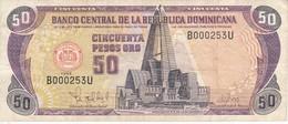 BILLETE DE REP. DOMINICANA DE 50 PESOS ORO DEL AÑO 1998 NUMERACION MUY BAJA 000253 (BANKNOTE) - Dominicana