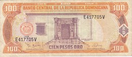 BILLETE DE REP. DOMINICANA DE 100 PESOS ORO DEL AÑO 1998 SERIE E (BANKNOTE) - Dominicana
