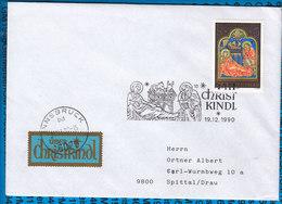 Austria Couvert Cristmas Christkindl 1990 / 09 - Postwaardestukken