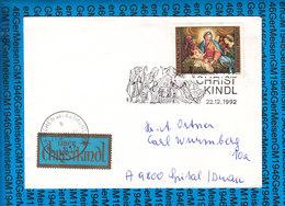 Austria Couvert Cristmas Christkindl 1992 / 02 - Postwaardestukken