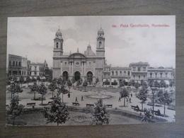 Tarjeta Postal Postcard - Uruguaya Uruguay Montevideo - Plaza Constitucion - 304 - Uruguay