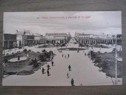 Tarjeta Postal Postcard - Uruguaya Uruguay Montevideo - Plaza Independencia Y Avenida 18 De Julio - 330 - Uruguay
