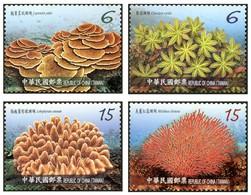 2018 Taiwan Corals Stamps (IV) Coral Ocean Sea Marine Life Fauna Fish - Nature
