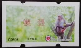 Official Specimen 2018 ATM Frama Stamp-Formosan Macaque Monkey-  Unusual - Monkeys