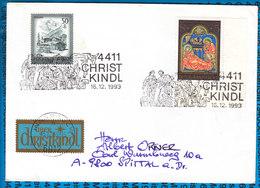 Austria Couvert Cristmas Christkindl 1993 / 02 - Postwaardestukken
