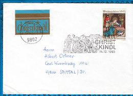 Austria Couvert Cristmas Christkindl 1993 / 03 - Postwaardestukken