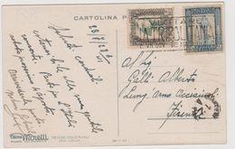 """Pubblicitaria Tende Coloniali MORETTI, Mod. """"Libica"""", Affrancata Con Francobolli Colonie Italiane - F.p. - Anni '1920 - Libia"""