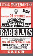 Paris : Prospectus ELYSEE MONTMARTRE : Rabelais (cie Renault Barrault) (PPP9020) - Programs