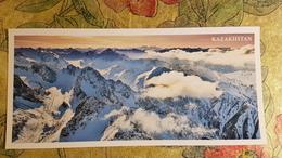 KAZAKHSTAN. Alatau Mountains, Aerial View - Modern  Postcard  - Euro Format - Kazakhstan