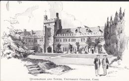 IRLANDE---RARE---CORK--1955--quadrangle And Tower, University Collège, Cork--voir  2 Scans - Cork