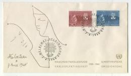 Cover H68 Finland 1960 Used World Refugee Year - Svezia