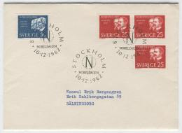 Cover H73 Sweden 1962 Used Nobel Winners - Unclassified