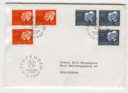 Cover H75 Sweden 1967 Used Nobel Prize Laureates - Unclassified