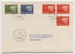 Cover H79 Sweden 1961 Used Nobel Prize Laureates 1901 - Unclassified