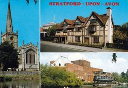 1 AK England *  Parish Church Of Holy Trinity - Geburtshaus Von Shakespeare - Royal Theatre In Stratford-upon-Avon - Stratford Upon Avon