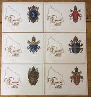 Stato Della Citta Del Vaticano Vatikan Vaticane 1979, Coat Of Arms, 6 Postcards - Vaticaanstad