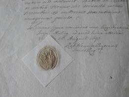 1699 ANCIENT BEAUTIFUL DOCUMENT OF KING LEOPOLDO ..EMPEROR OF AUSTRIA-UNGHERIA / ANTICO DOCUMENTO - Seals Of Generality