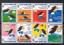 SAINT MARIN  Timbres Neufs ** De 2001   ( Ref 5492 ) Sport  - Jeux Sportifs De Petits états - Unused Stamps