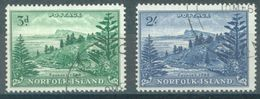 NORFOLK ISLAND - USED/OBLIT. - 1959 - BALL BAY - Yv 23-24 ASC 7 14 - Lot 17510 - Ile Norfolk