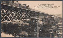 Busseau D'Ahun , Train Sur Le Viaduc  Pour Le Chemin De Fer De Limoges à Montluçon - Autres Communes