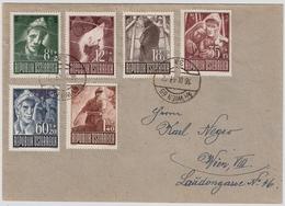 1947, Nr. 829-34, Kriegsgefangene, Satz-Brief , #a731 - 1945-60 Briefe U. Dokumente