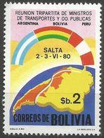 Bolivia - 1980 Transport Conference MNH **     Mi 968    Sc 655 - Bolivia