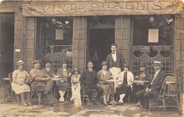 CAFE- CARTE-PHOTO A SITUER- VINS DE CHABLIS - Cafés