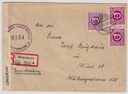 1945, Reko-Bf. Klagenfurt, Bedarf! , #a728 - 1945-60 Briefe U. Dokumente
