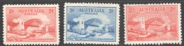 1932  Sydney Harbour Bridge  2d And 3d. In Recess Plus 2d. In Typo  SG 141-2, 144  All MM - 1913-36 George V: Sonstige Abb.