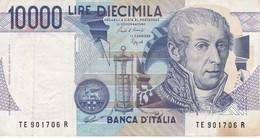 BILLETE DE ITALIA DE 10000 LIRAS DEL AÑO 1984 DE VOLTA  (BANKNOTE) DIFERENTES FIRMAS - 10000 Liras