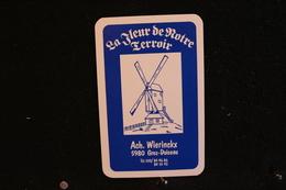 Playing Cards / Carte A Jouer/1 Dos De Cartes Avec Publicité/ Ach. Wierinckx - Grez-Doiceau, La Fleur De Notre Terroir - Cartes à Jouer