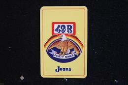 Playing Cards / Carte A Jouer / 1 Dos De Cartes Avec Publicité / Forty Niner Jeans - 49R - - Cartes à Jouer