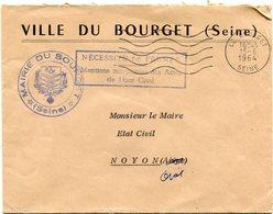 SEINE De LE BOURGET Env. à En Tête De Mairie Avec EMO     Du 15/06/1964 - 1961-....