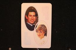 Playing Cards / Carte A Jouer / 1 Dos De Cartes Avec Publicité /The Royal Couple - Prince Charles And Pricess Diana - Cartes à Jouer