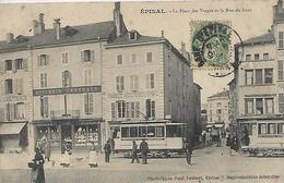88, Vosges, EPINAL, La Place Des Vosges Et La Rue Du Pont, Scan Recto-verso - Epinal