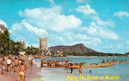 1 AK Hawaii - Insel Oahu * Waikiki Beach Und Der Diamond Head Im Hintergrund * - Oahu