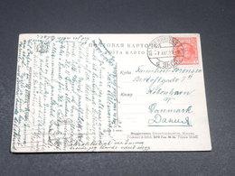 U.R.S.S. - Affranchissement Sur Carte Postale Pour Le Danemark En 1929 - L 19600 - 1923-1991 URSS
