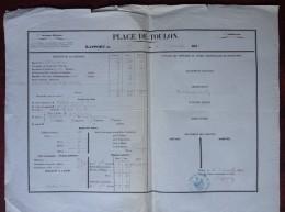 Rapport Militaire De La Place De Toulon 5 Au 6 Novembre 1854 . Signé Jules Chesnon De Champmorin Du Jarossey . - Documents