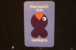 Playing Cards / Carte A Jouer / 1 Dos De Cartes Avec Publicité / Free Beach Club - Italie, Sardegna - Cartes à Jouer