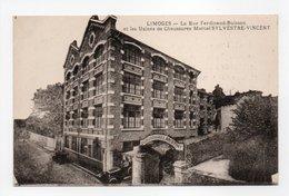 - CPA LIMOGES (87) - La Rue Ferdinand-Buisson Et Les Usines De Chaussures Marcel SYLVESTRE-VINCENT - - Limoges