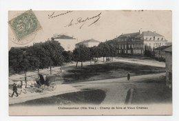 - CPA CHATEAUPONSAC (87) - Champ De Foire Et Vieux Château 1906 - Photo A. Breger - - Chateauponsac