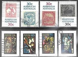 Australia 1984  8 Diff Used 2016 Scott Value $4.60 - Usados