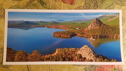 KAZAKHSTAN. Burabay Lake, Aerial View - Modern  Postcard  - Euro Format - Kazakhstan