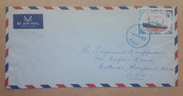 HX- DUBAI 1970 AIR MAIL Cover Franked Ship / Boat Stamp 1,25 Rls - Dubai