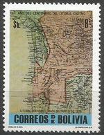 Bolivia - 1979 Chilean War (Coastal Map) MNH **     Mi 950    Sc 636 - Bolivia