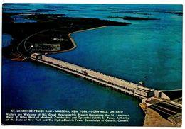 United States Modern Postcard St. Lawrence Power Dam - Massena NY / Cornwall Ontario - Other