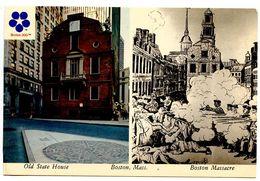 United States Modern Postcard Old State House & Boston Massacre - Boston, Massachusetts - Boston